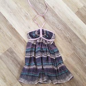 NWT Susana Monaco 100% Silk Halter Dress 8